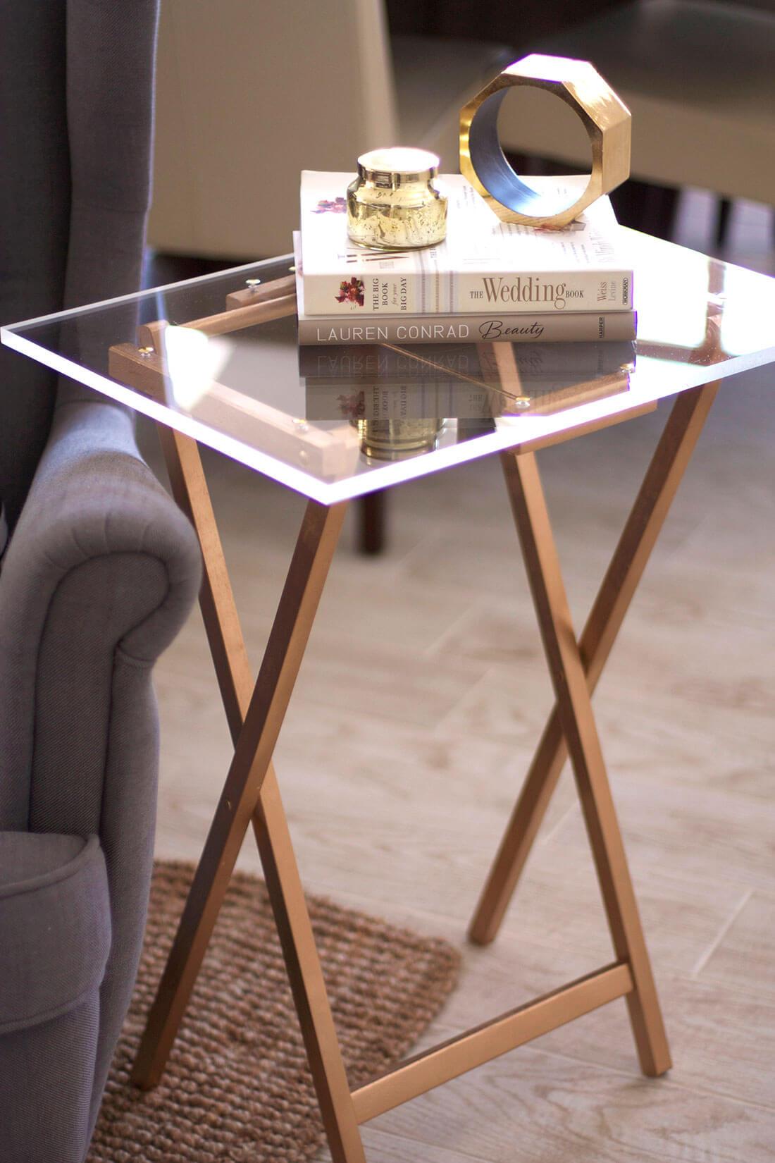 Table d'appoint de style yacht Porter en verre