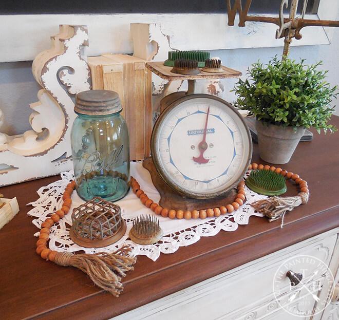 Arrangement de set de table antique d'inspiration vintage