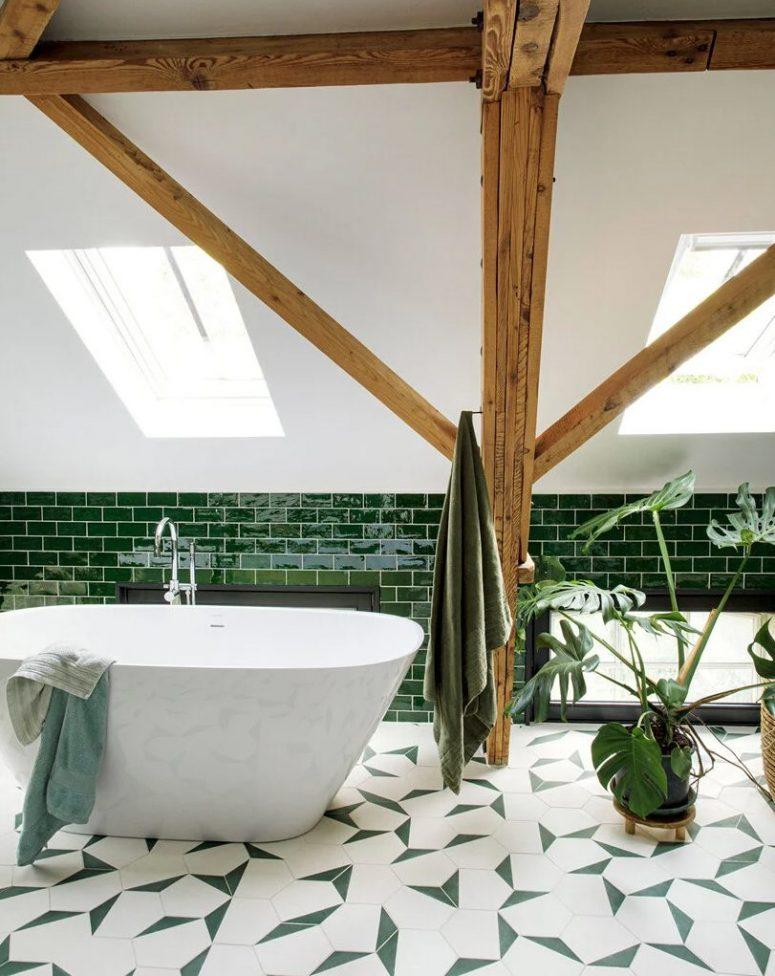 un design de salle de bain pratique et super élégant
