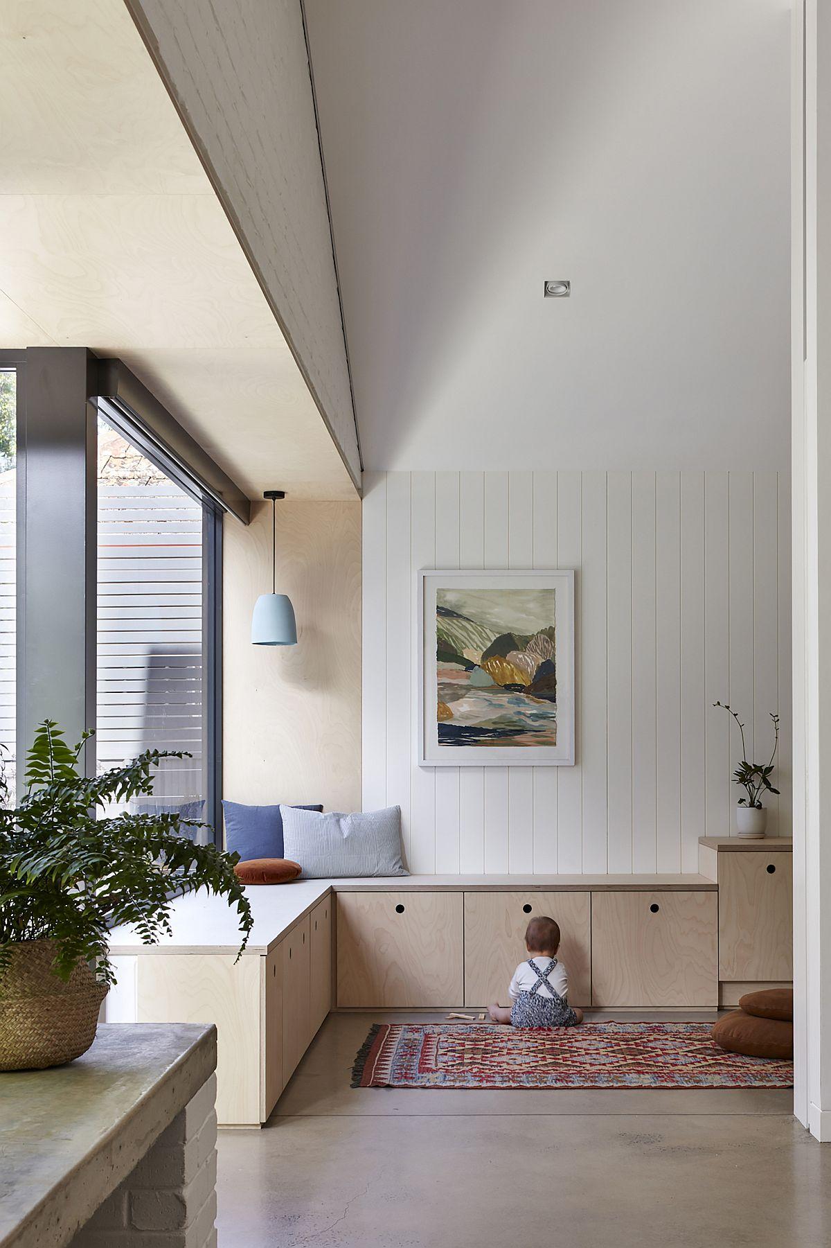Espaces de vie lumineux, lumineux et modernes de la maison à Unley Park, Adélaïde