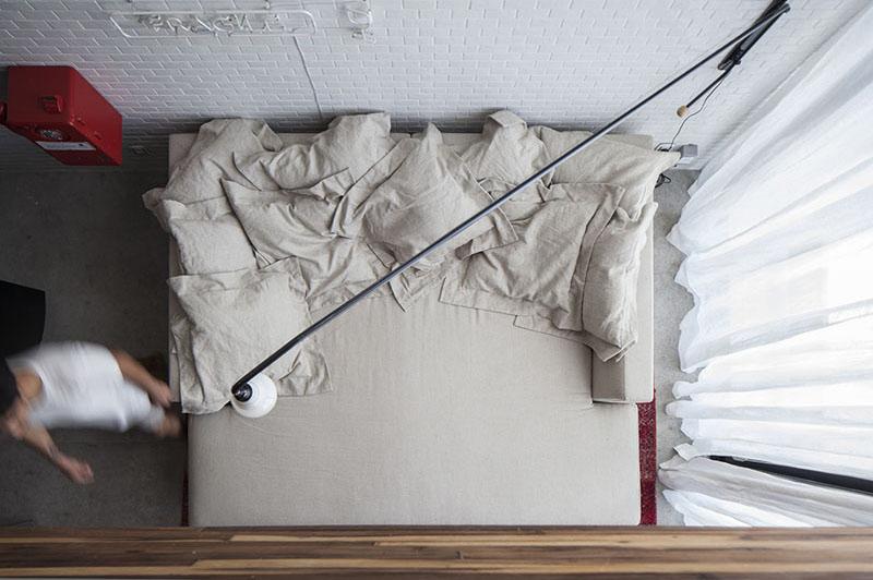 Appartement lit escalier en colimaçon