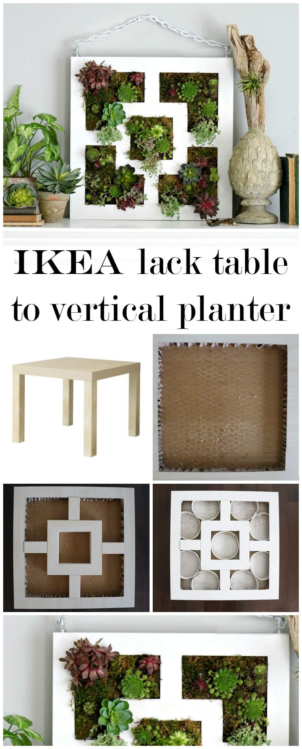 Réutiliser une table en tant que jardinière verticale