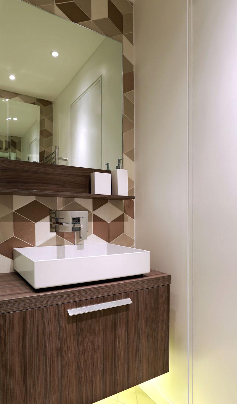 Salle de douche contemporaine