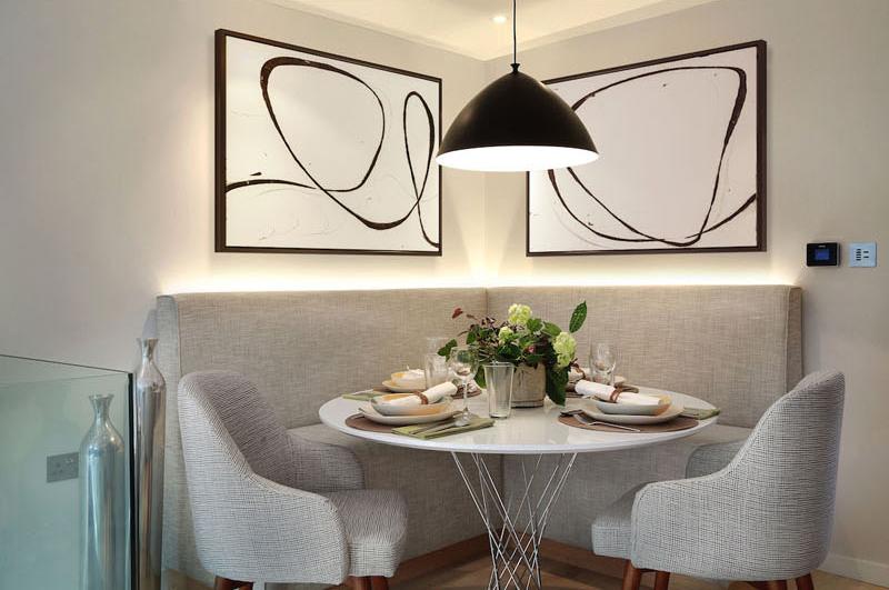 Banquette de maison contemporaine