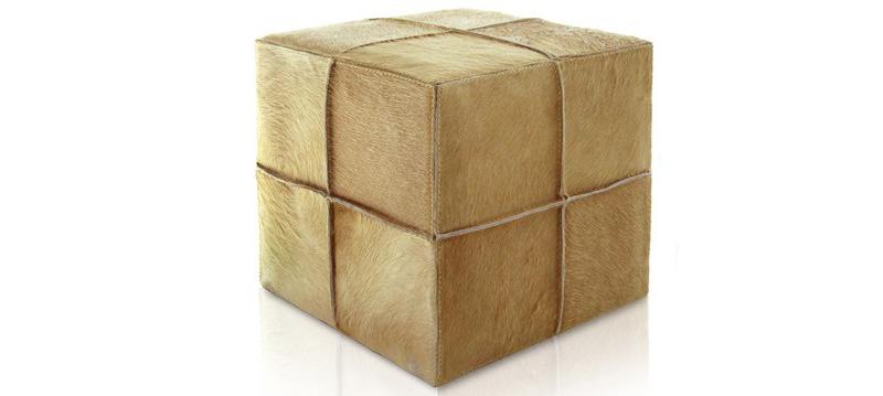 Poufs Cube en cuir