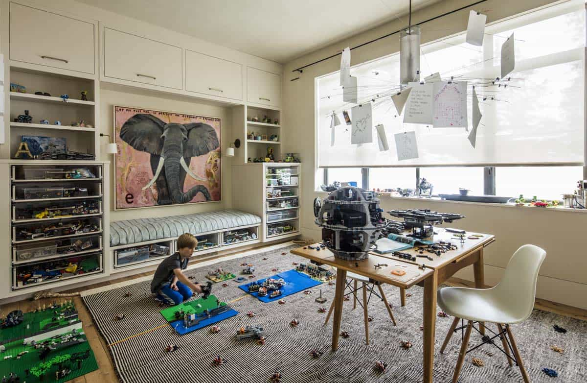 salle de jeux pour enfants de style ferme