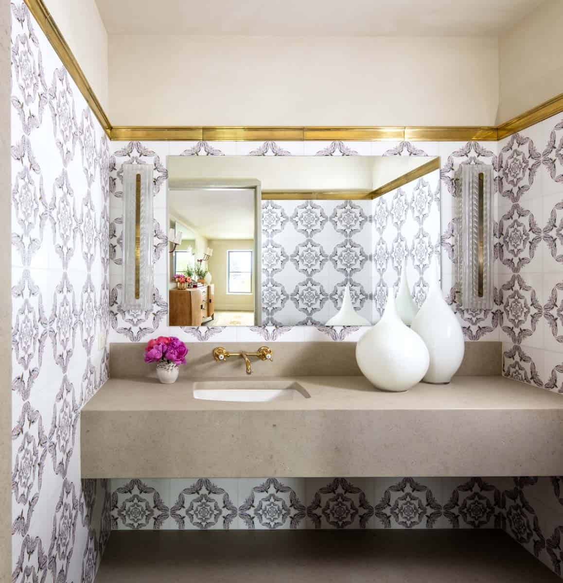 salle de bain en poudre de style ferme