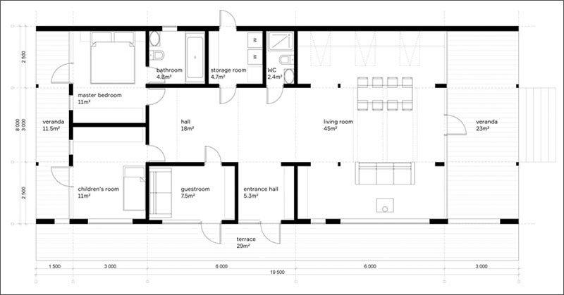 Plan d'étage DublDom 2.110