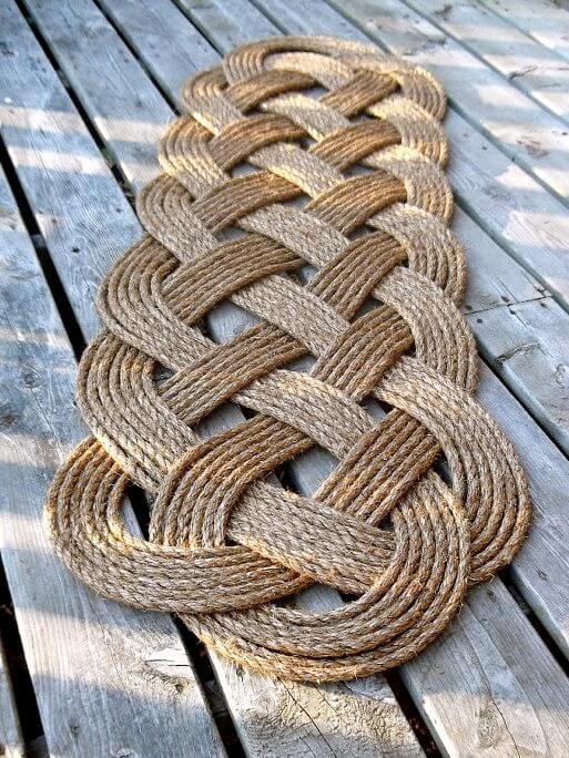 Un tapis de bienvenue Infinity en corde