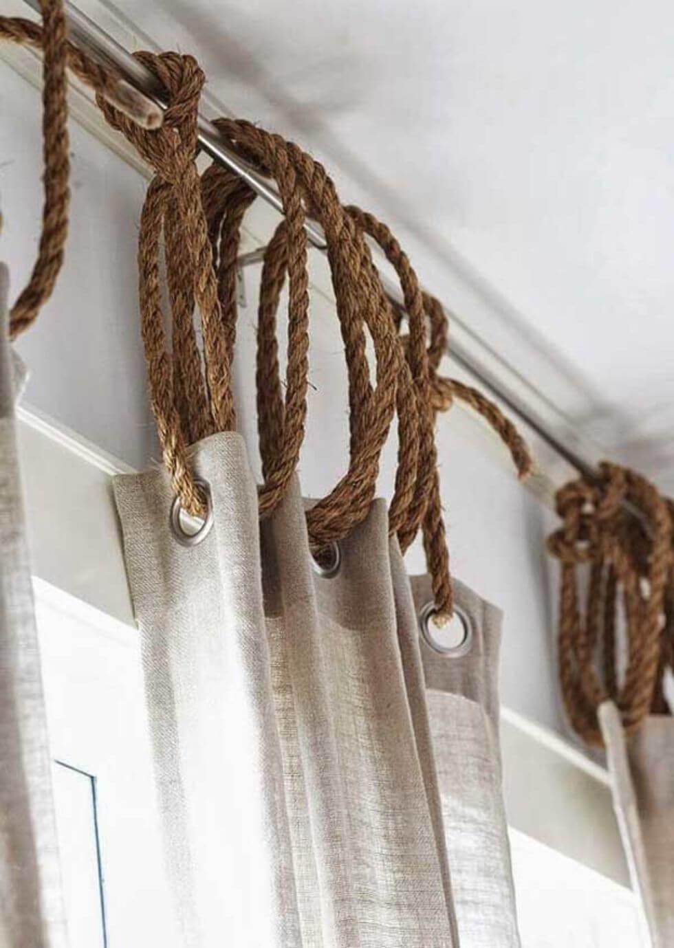 Idées uniques pour suspendre des rideaux avec une corde