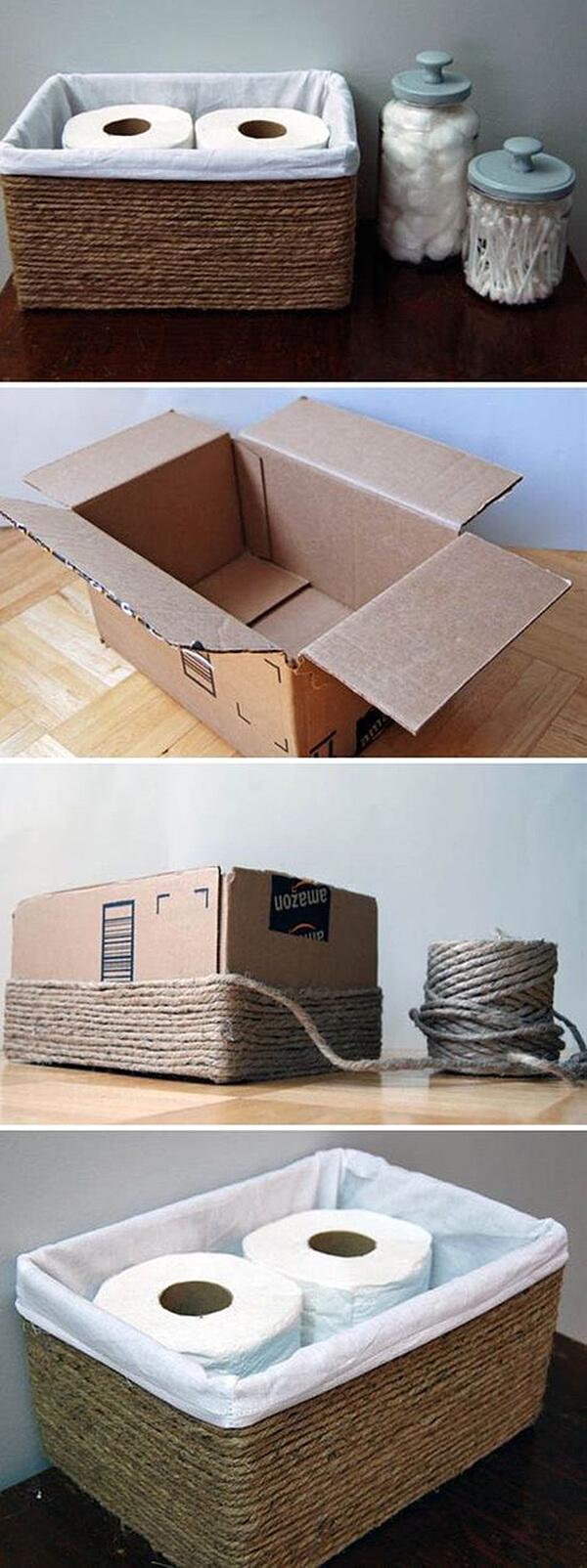 Une boîte transformée en unité de stockage