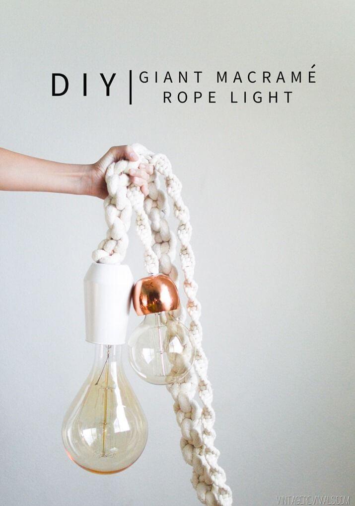 Idées de projets de bricolage d'éclairage de corde géante