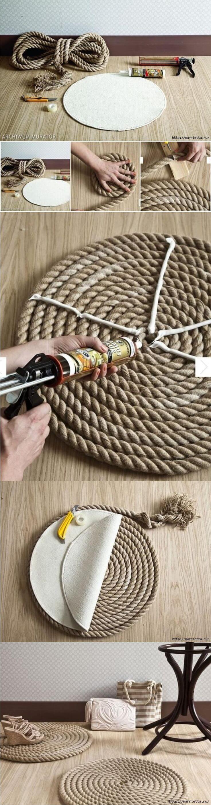 Tapis de corde en spirale pour votre entrée