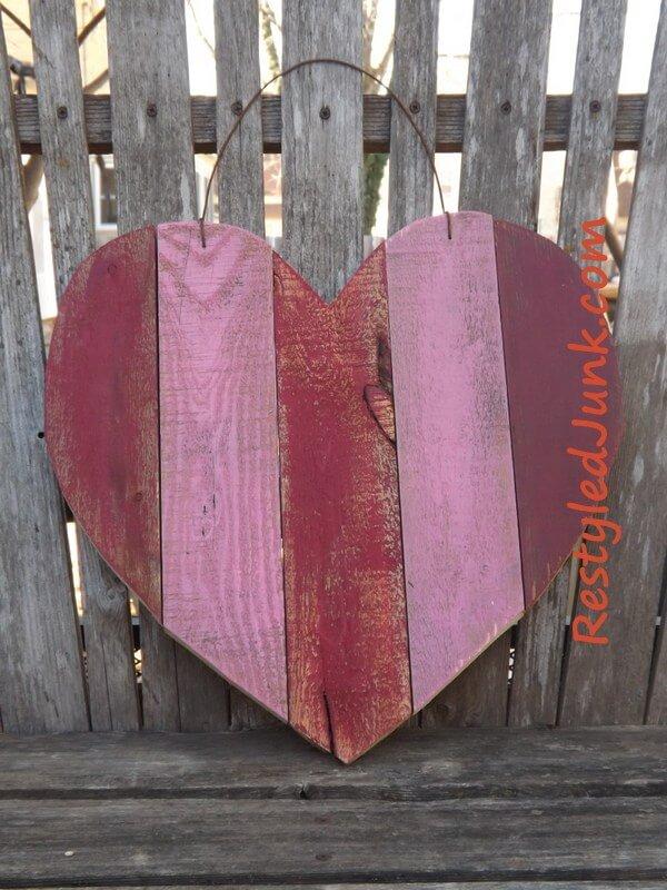 Beaux projets de bricolage coeur en bois rustique pour Boho Chic Homes