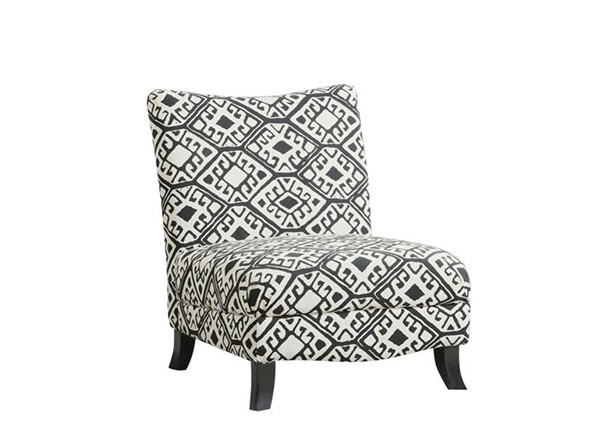 Chaise d'appoint en tissu abstrait