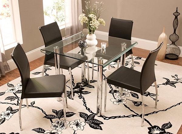 salle à manger en verre