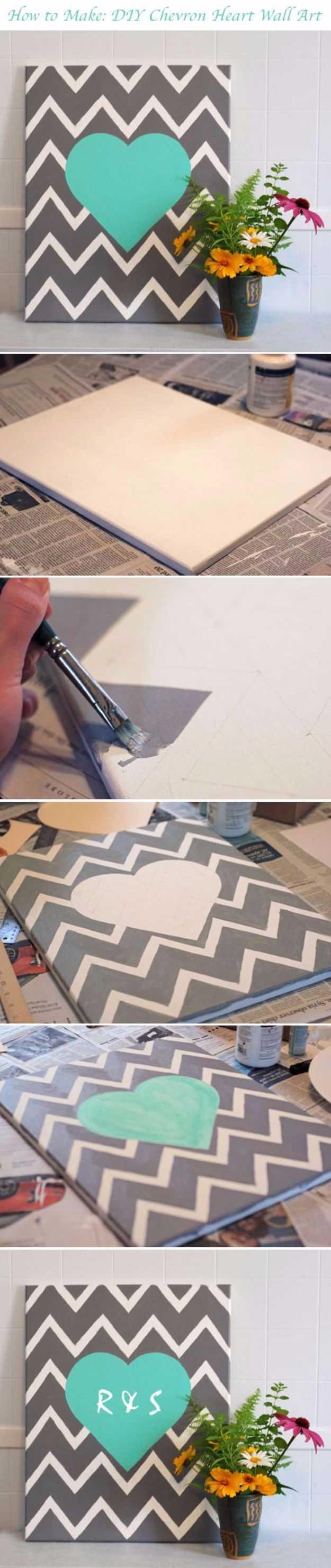 15 idées de peinture sur toile bricolage super faciles pour la décoration artistique