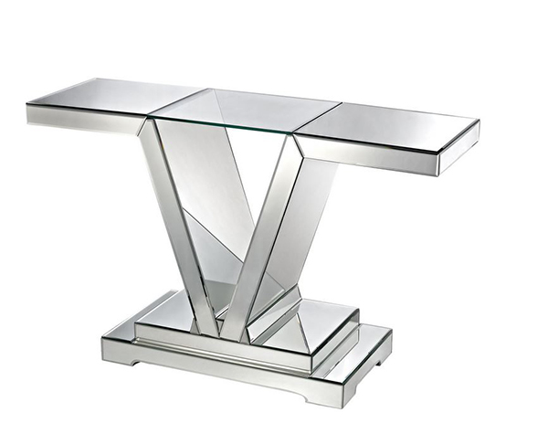 Tables de console en miroir
