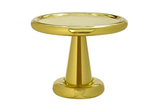 tables courtes en laiton