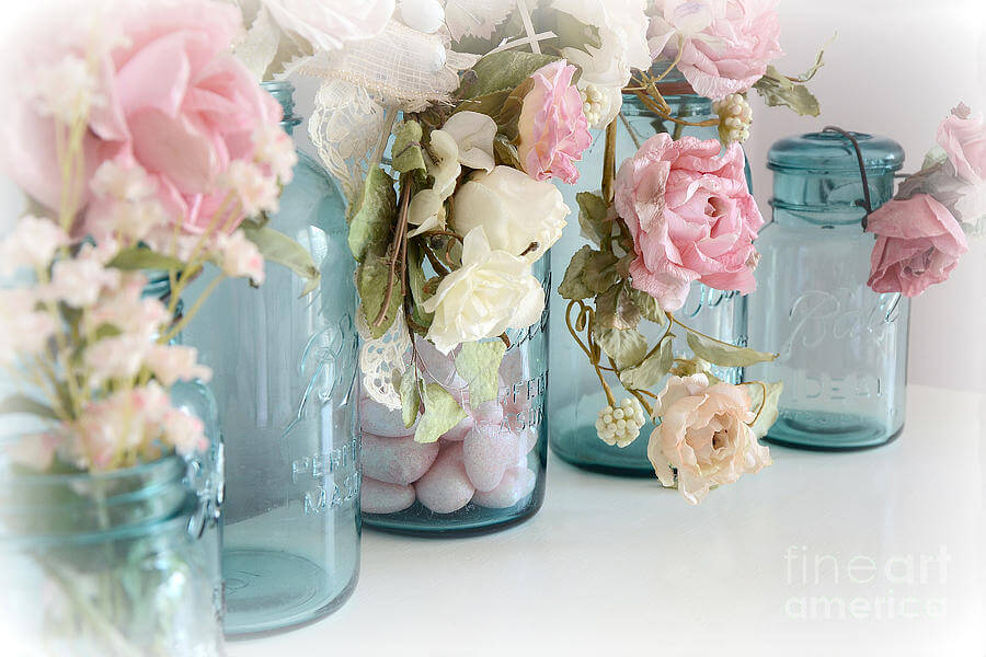 Bricolage Mason Jar Rose Décorations