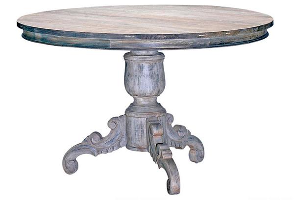 Tables de salle à manger gris antique délavé blanc