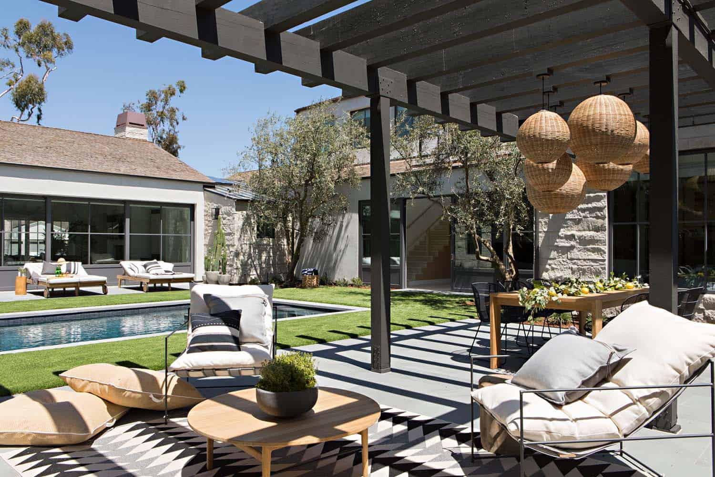 patio extérieur de style ferme