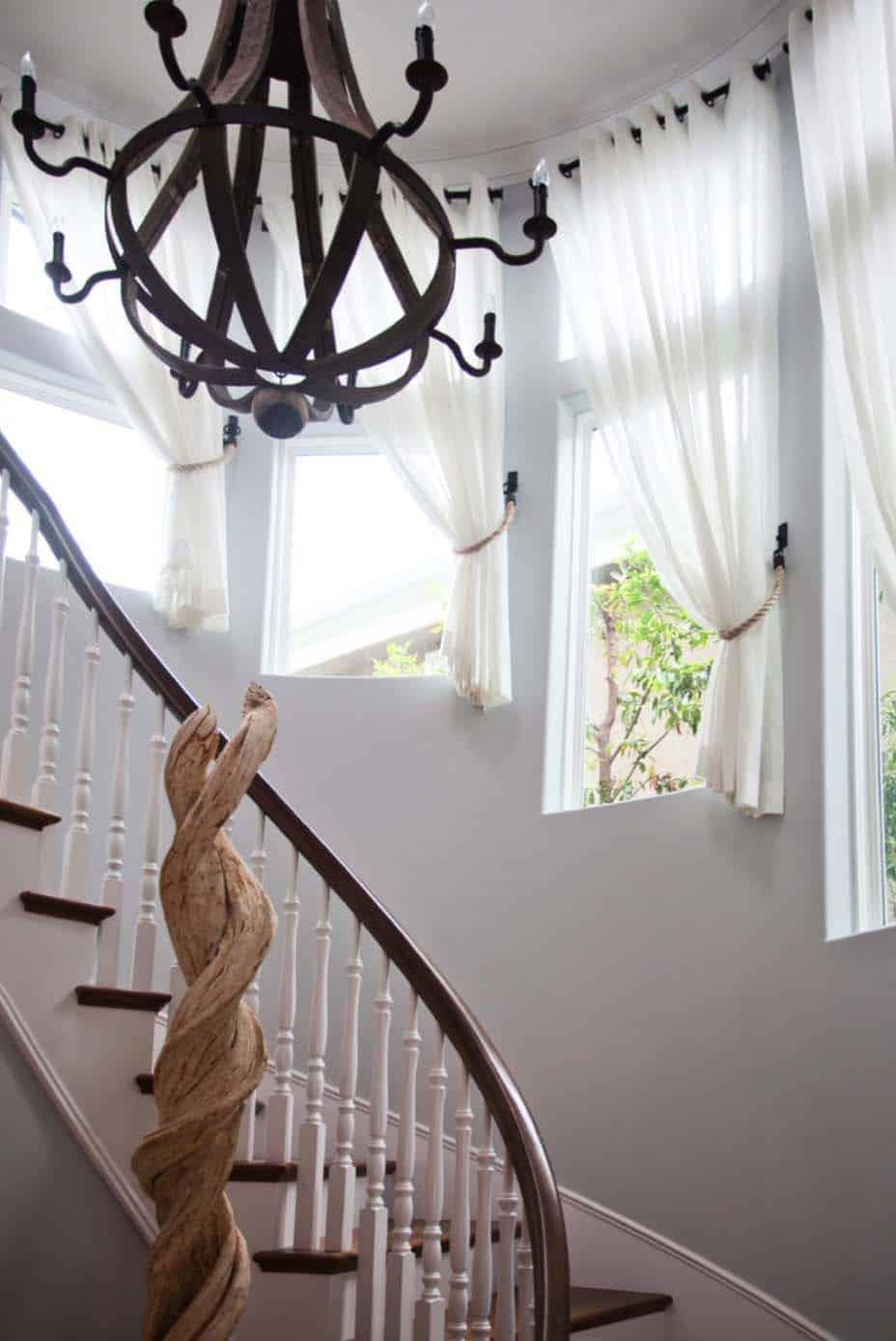 escalier de style plage de luxe côtier