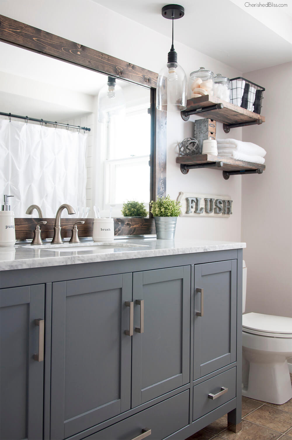 Projets de palette de ville (maison) et de campagne pour votre salle de bain