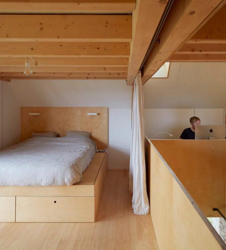un lit plateforme est une solution assez pratique pour une chambre