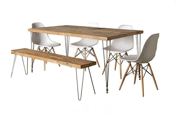 Table de salle à manger en bois récupéré Urban Loft