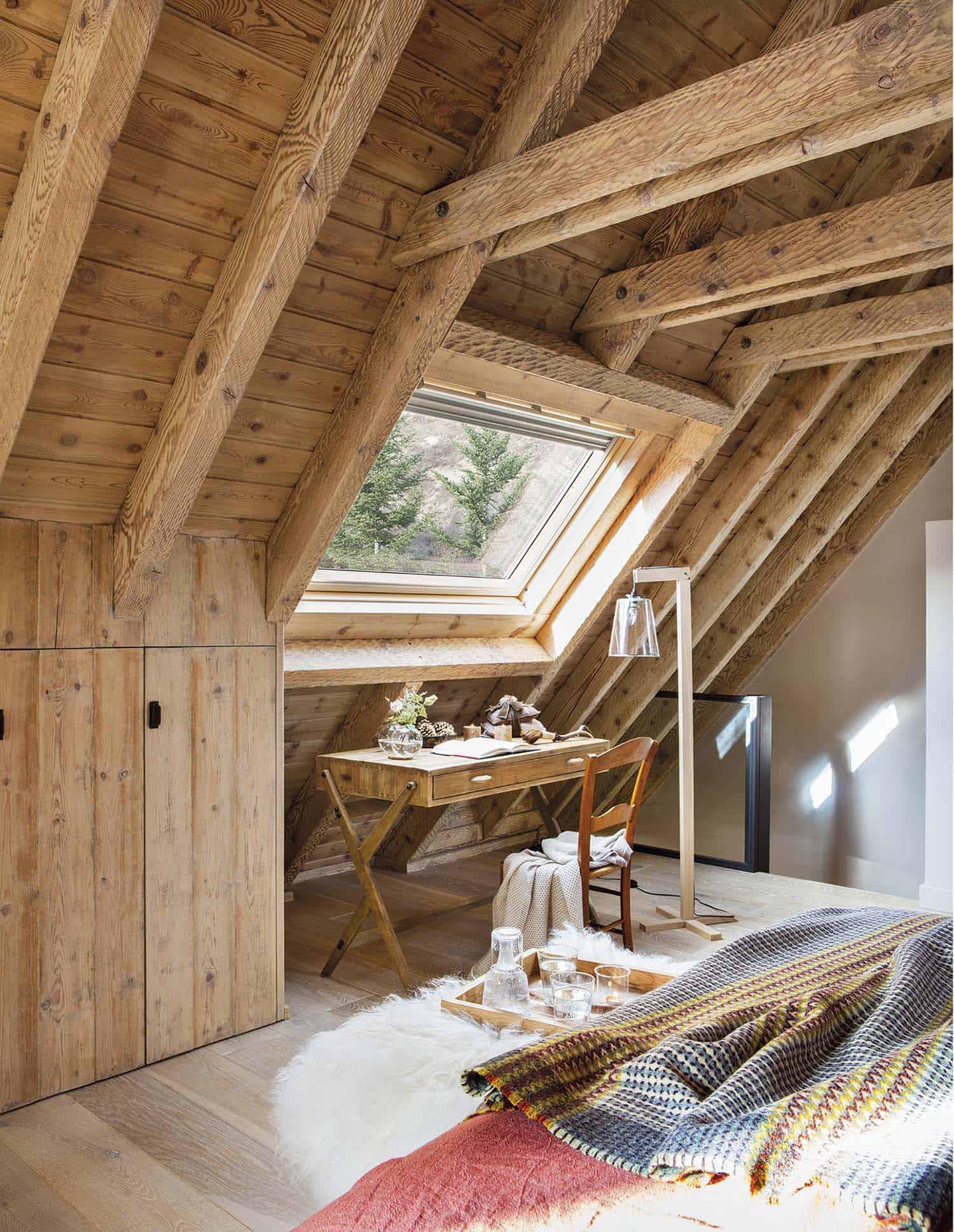 chambre-chalet-rustique-en-bois