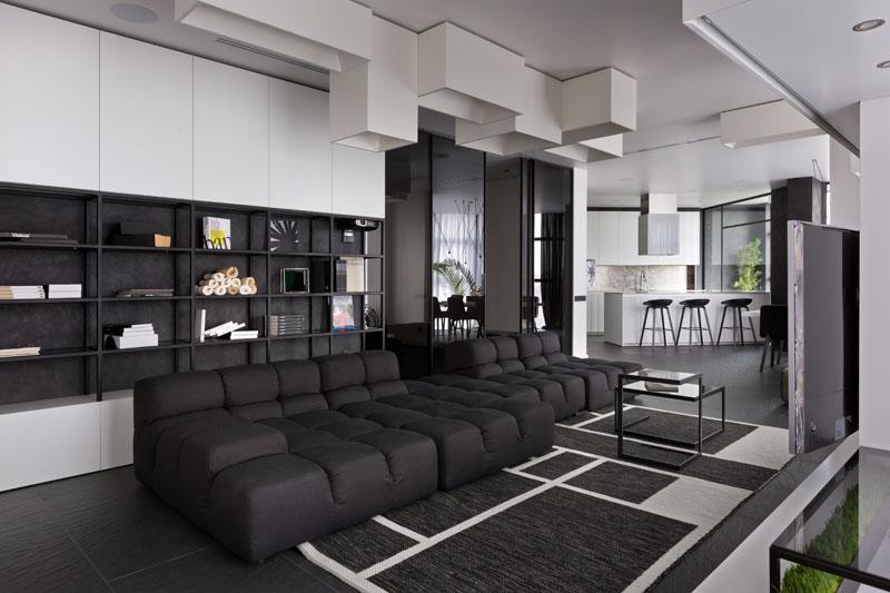 Appartement noir et blanc