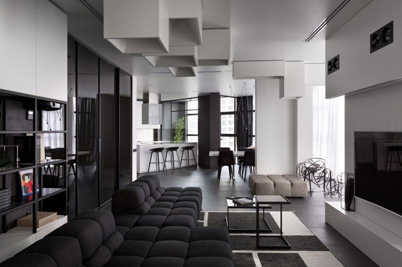 Luminaires d'appartement noir et blanc