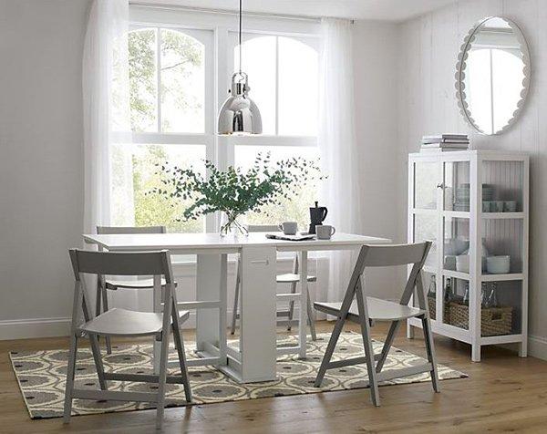 Table de salle à manger Span White Gateleg