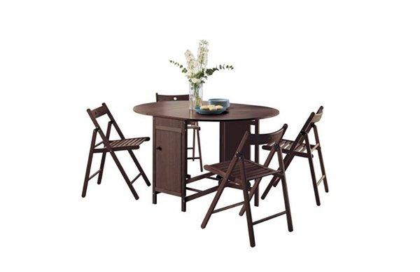 Butterfly Set Table de Salle à Manger Ovale et 4 Chaises