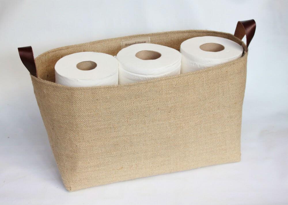 Panier de rangement pour rouleau de papier toilette Ragged Home