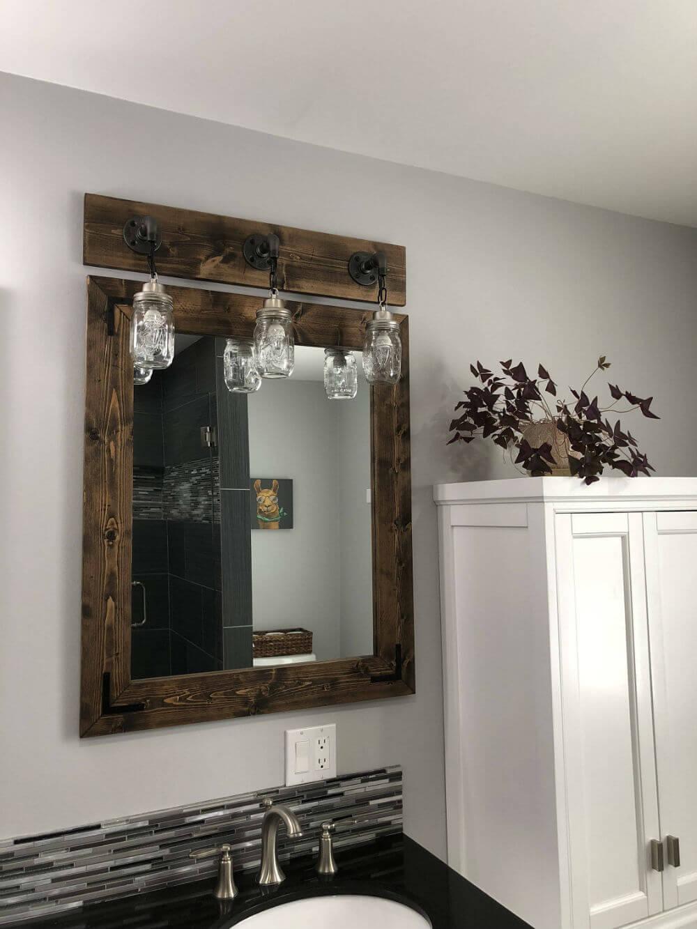 Cadre de miroir espresso Lightroom