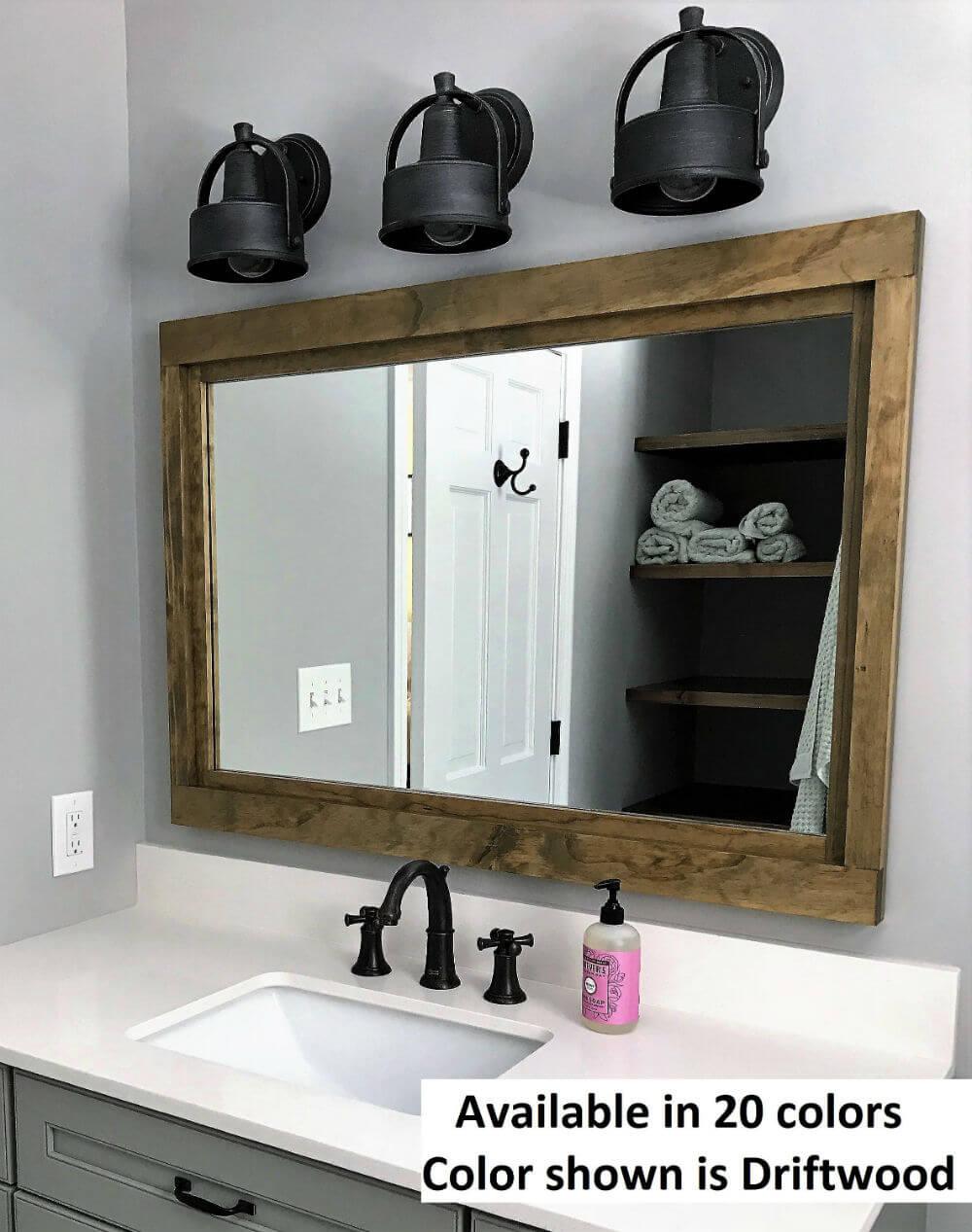 Miroir en bois récupéré Farmhouse