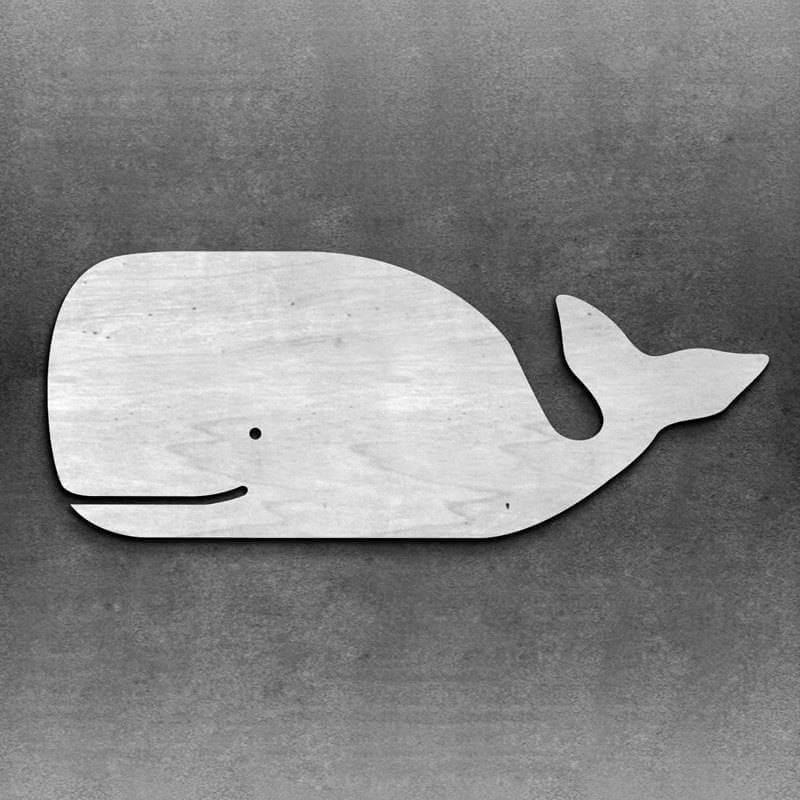 Accent de baleine en bois nautique