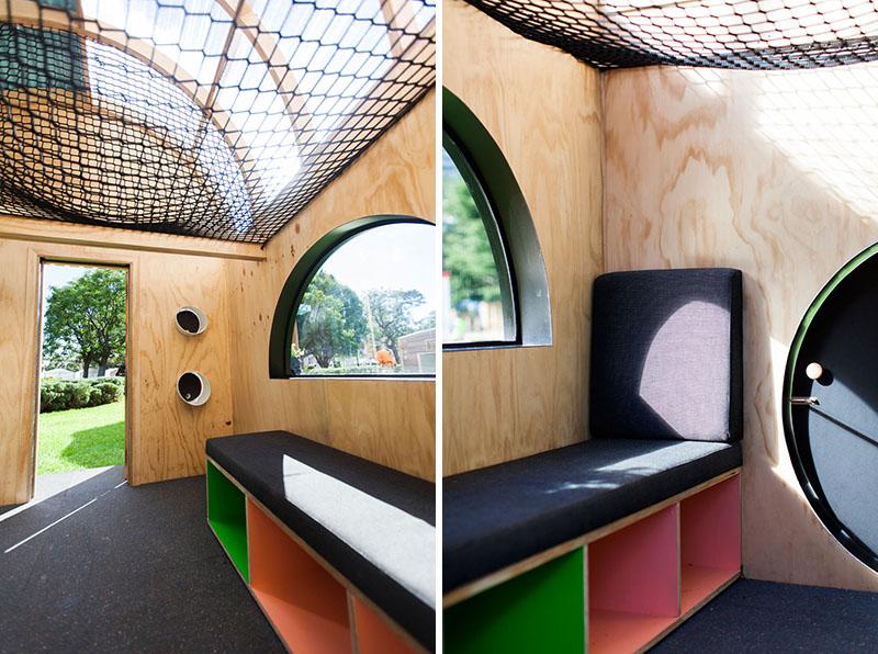 Banc rembourré Playhouse pour enfants