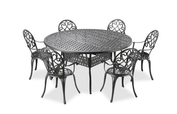Ensemble de meubles d'extérieur en aluminium moulé