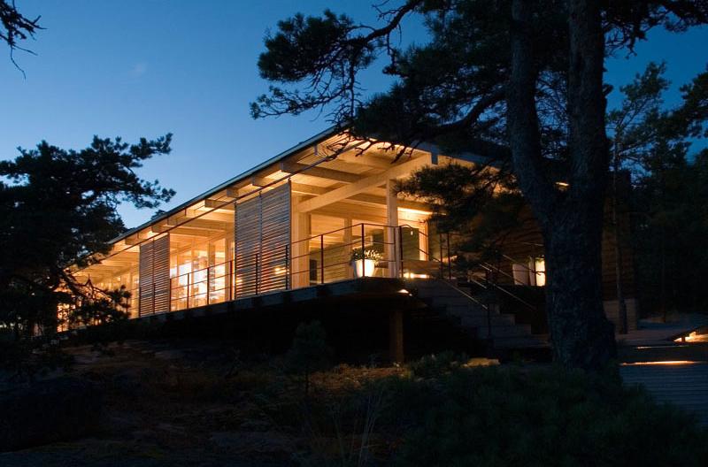 Villa bord de mer lumière