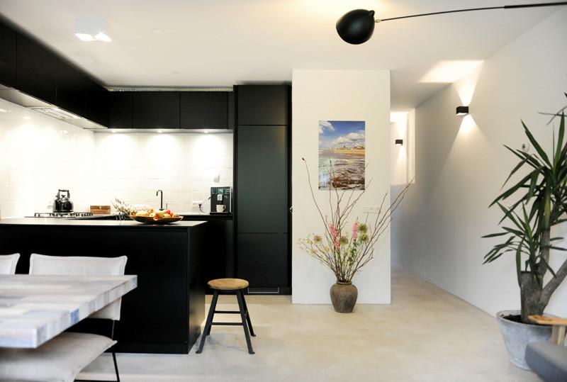 cuisine intérieure en bois noir