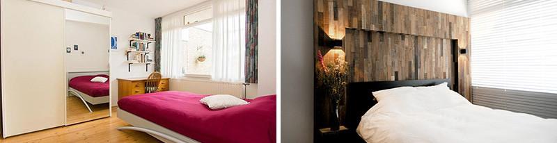 chambre à coucher intérieure en bois noir