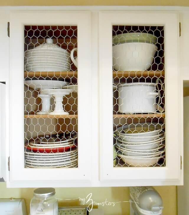 Un lifting des armoires de cuisine avec du fil de poulet