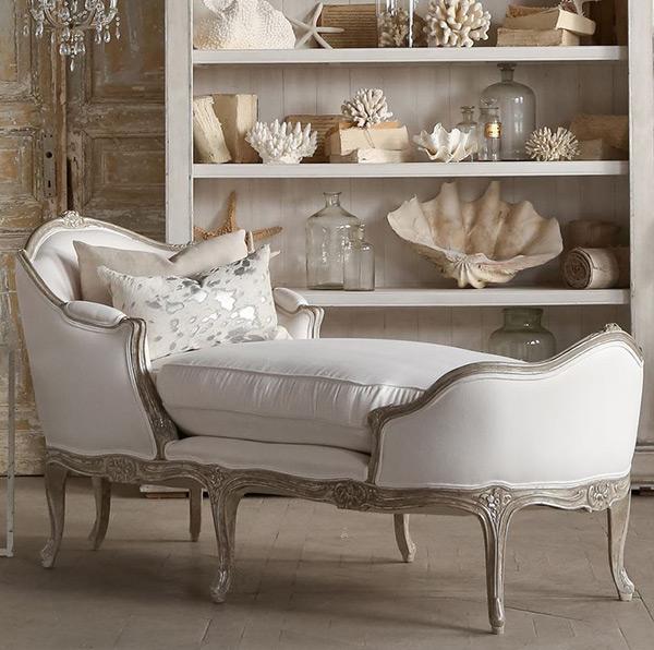 Chaise Eloquence Marie Antoinette au fini argenté à deux tons