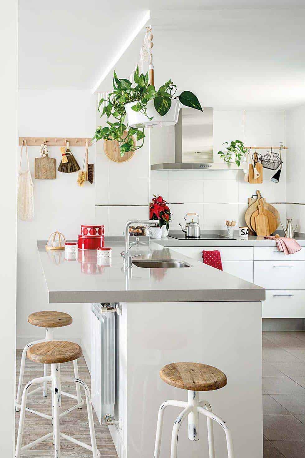 cuisine-de-noel-décorée-nordique