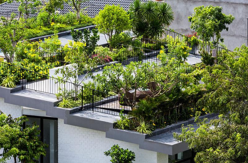 Jardin de la maison Hoan