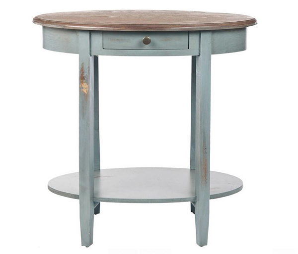 Tables de bout ovales shabby chic