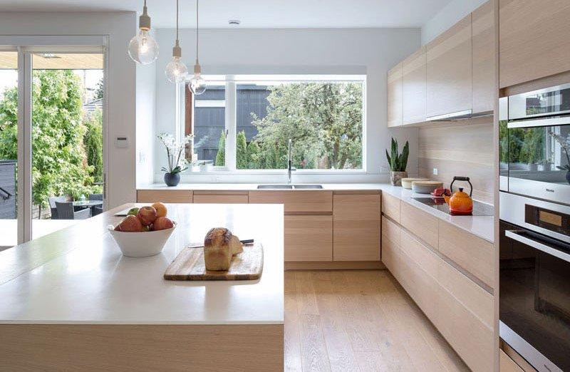 Cuisine de maison contemporaine Mid-Block